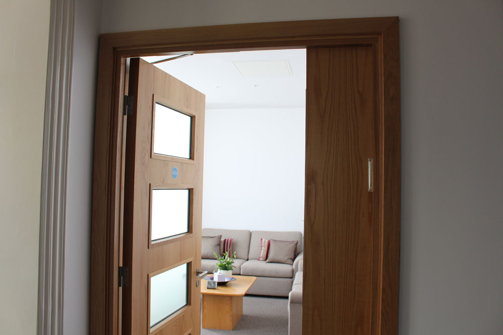 Hospital, health centre or care home timber doorset, steel doorset, and glazed timber frame supply